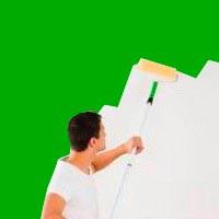 Option 1 -  Remise en Peinture verte du sol