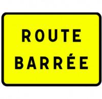 """Panneau """" Route barrée """""""