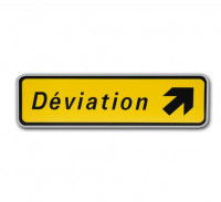 """Panneau """" Déviation """""""