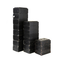 Série Cubes Marche Bois Noir 4x20x30 / 9x20x30 / 13x20x30